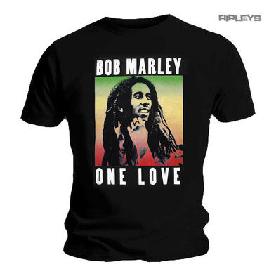 Official Unisex T Shirt BOB MARLEY Rasta  'One Love'  Photo Logo All Sizes