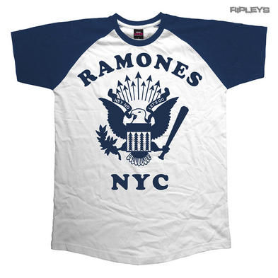 Official T Shirt THE RAMONES New York Seal RETRO Eagle Raglan Baseball
