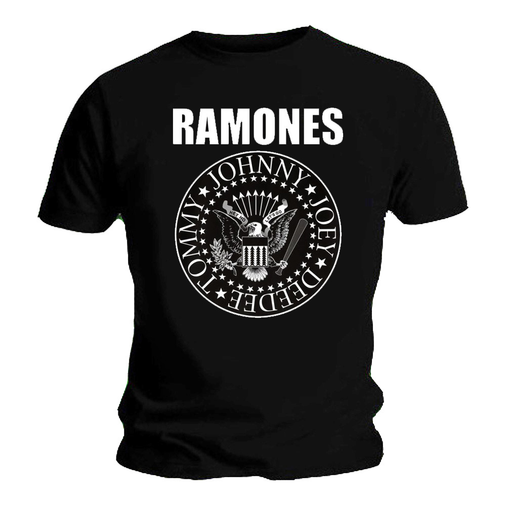 Official-T-Shirt-THE-RAMONES-Classic-SEAL-Bold-Logo-Black-All-Sizes thumbnail 3