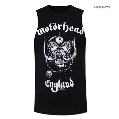 Official T Shirt MOTORHEAD Metal Sleeveless England 'Muscle' Logo All Sizes