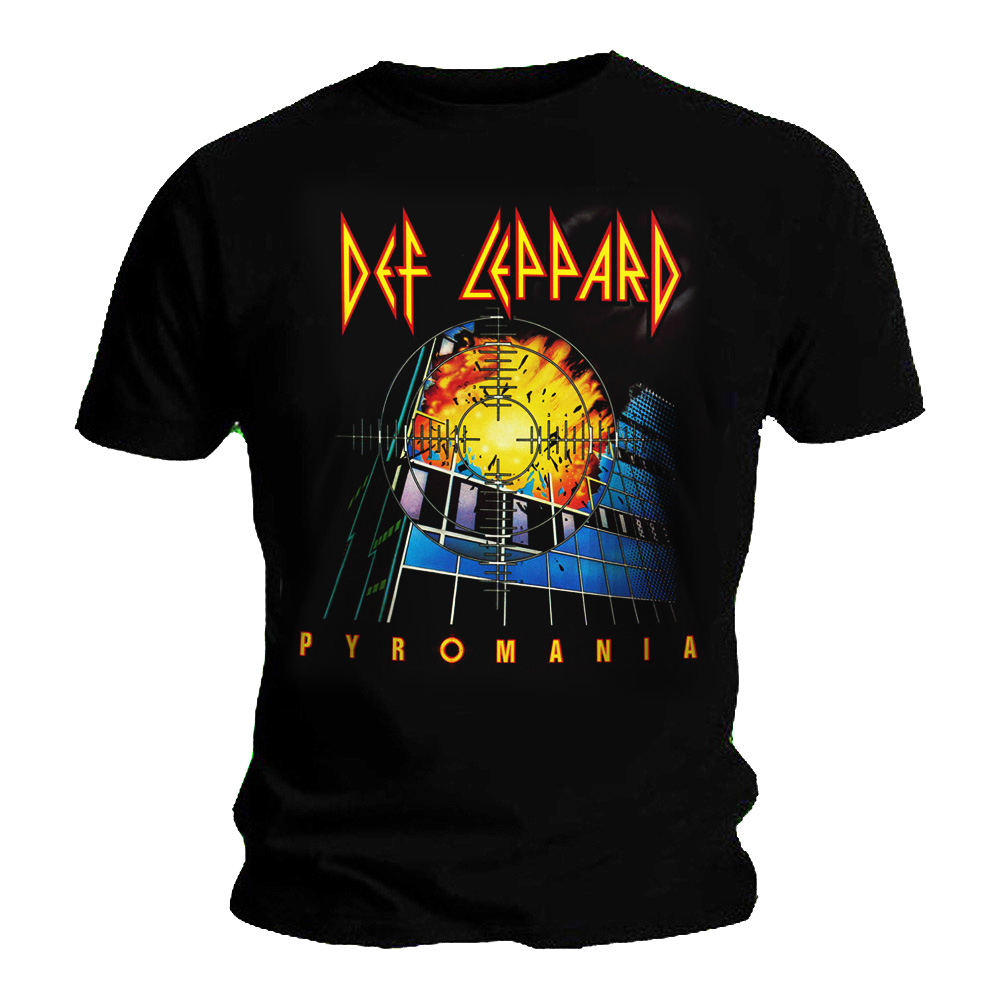 Official-T-Shirt-DEF-LEPPARD-Rock-Metal-039-Pyromania-039-Album-Cover-All-Sizes thumbnail 3