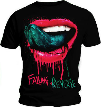 Official T Shirt FALLING IN REVERSE Fashionably Late LIPS