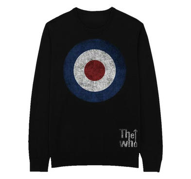 Official Pullover Sweatshirt SWEATER The Who Distressed Target Logo