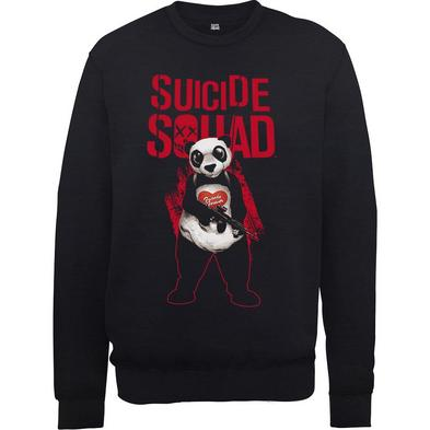 Official Pullover Sweatshirt DC Comics SWEATER Suicide Squad Logo Panda