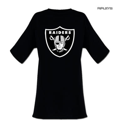 Official Ladies T Shirt Oversized Oakland Raiders Classic Logo All Sizes