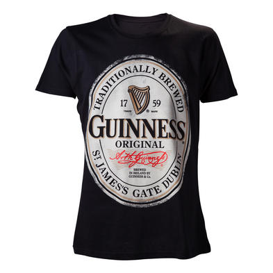 Official Unisex Black T Shirt GUINNESS Original Irish Stout 1759