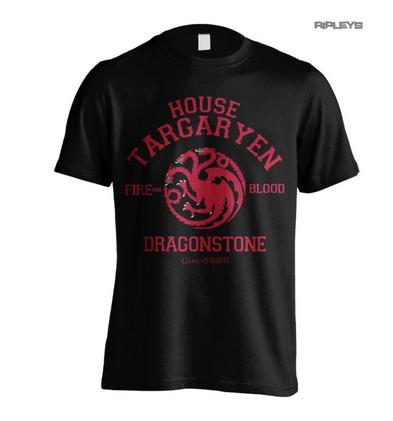 Official T Shirt Game of Thrones Targaryen DRAGONSTONE Fire & Blood All Sizes Preview