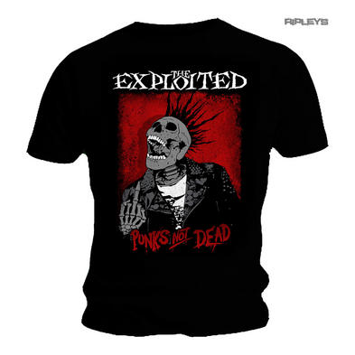 Official T Shirt THE EXPLOITED Punks Not Dead SPLATTER Skeleton All Sizes