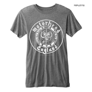 Official T Shirt MOTORHEAD England Distressed Burnout SEAL Logo All Sizes