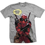 Official T Shirt DEADPOOL Marvel Comic 'Outta The Way Nerd' Grey All Sizes Thumbnail 1