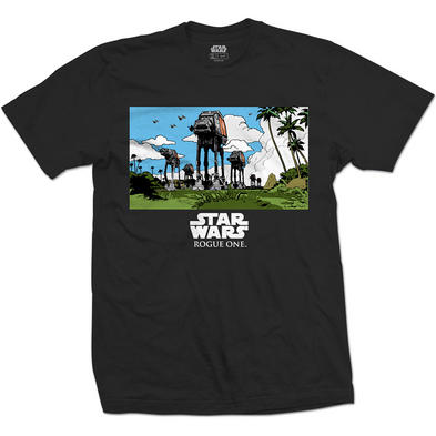 Official Unisex T Shirt STAR WARS Cartoon AT-AT 'March'