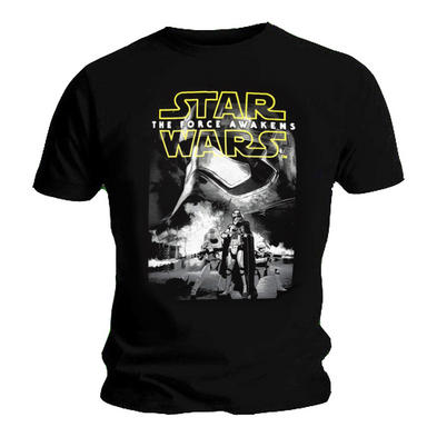 Official Unisex T Shirt STAR WARS Force Awakens 'Trooper Poster' All Sizes Preview