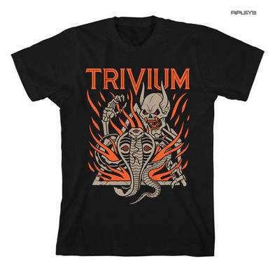 Official T Shirt TRIVIUM Metal Snake 'Cobra Skull' Orange  All Sizes
