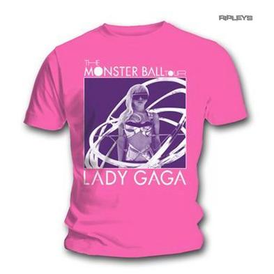 Official Unisex T Shirt LADY GAGA Monster Ball TOUR Pink All Sizes