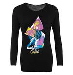 Official Skinny Long Sleeve T Shirt LADY GAGA 'Neon' Logo All Sizes Thumbnail 2