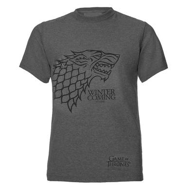 Official Unisex T Shirt Game of Thrones Grey SIDE Stark Direwolf Preview