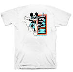 Official Unisex T Shirt DISNEY Mickey Mouse Classic RETRO White  Thumbnail 2