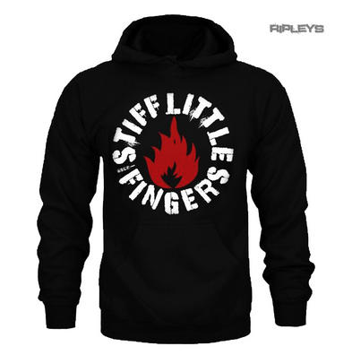 Official Hoody Hoodie STIFF LITTLE FINGERS Circle Logo 'Punk' Black All Sizes