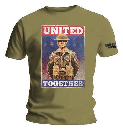 Official Unisex T Shirt Call of Duty WWII Infinate Warfare 'United' Soldier