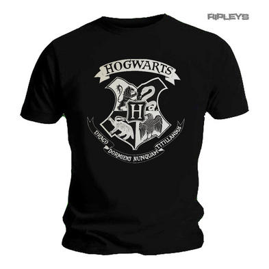 Official T Shirt Harry Potter Hogwarts Houses Classic SIGIL Crest Black Preview