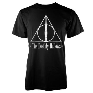 Official T Shirt Harry Potter The Deathly Hallows SYMBOL Black