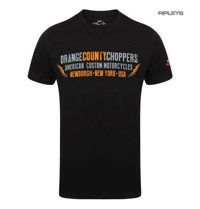 Official OCC T Shirt Orange County Choppers LIGHTNING Motorcycle All Sizes Preview