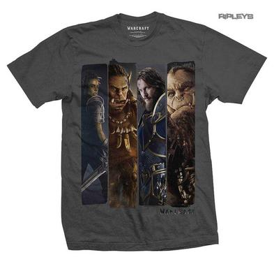 Official Grey T Shirt World of WARCRAFT Orc Movie  'Characters Slice'