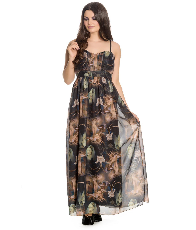 Hell-Bunny-Spin-Doctor-Goth-Maxi-Dress-RENAISSANCE-Donnatella-All-Sizes thumbnail 23