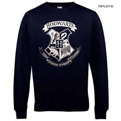 Official Sweatshirt Harry Potter Sweater Hogwarts SIGIL Crest Navy Blue