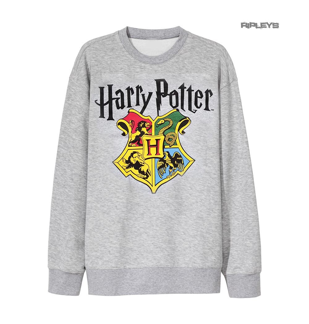 Sweatshirt Houses Hogwarts Official Crest Sweater Potter Grey Harry gYdTxwH