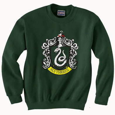 Official Sweatshirt Harry Potter Hogwarts Sweater SLYTHERIN House Green