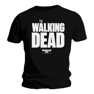 Official T Shirt Zombies THE WALKING DEAD Bold Classic 'Logo' Black