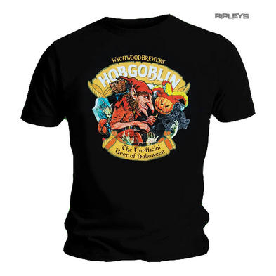 Official T Shirt Wychwood Brewery HOBGOBLIN Unofficial Beer of Halloween