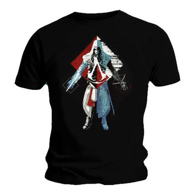 Official T Shirt Game ASSASSIN'S CREED Origins 'Dots' Characters Black