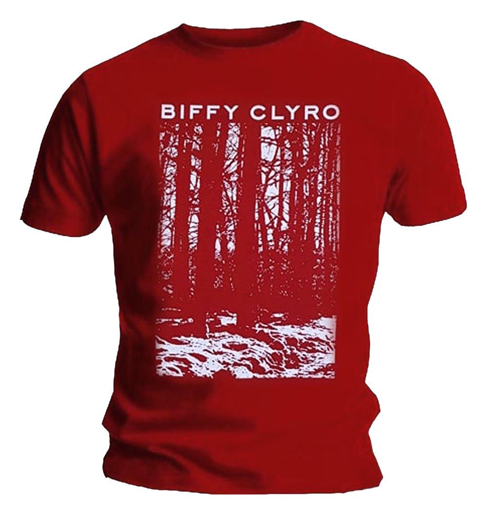 Official-T-Shirt-BIFFY-CLYRO-Ellipsis-039-Red-Trees-039-All-Sizes thumbnail 9