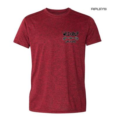 Official WELDERUP Garage Custom Hot Rod Car T Shirt RED 'Classic Logo'