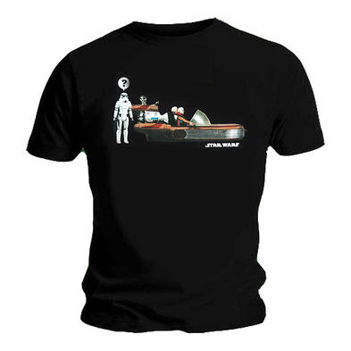 Official Unisex T Shirt STAR WARS Retro Funny Trooper 'Landspeeder'
