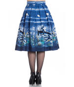 Hell Bunny 50s Pin Up Rockabilly Skirt MONTANA Blue Stag Deer All Sizes Thumbnail 4