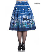 Hell Bunny 50s Pin Up Rockabilly Skirt MONTANA Blue Stag Deer All Sizes Thumbnail 3
