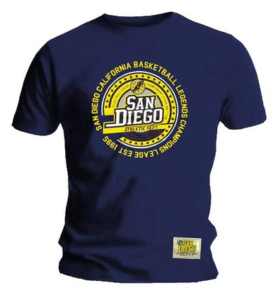 Official Sports T Shirt SAN DIEGO Champion League Basketball Athletic Dept.