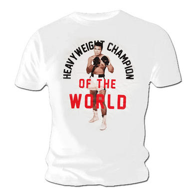Official T Shirt MUHAMMAD ALI Boxing Heavyweight Champion 'World'