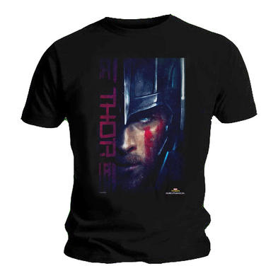 Official T Shirt Marvel Comic THOR Ragnarok 'Painted' Portrait Black All Sizes