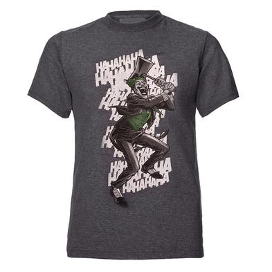 Official T Shirt DC Comics Batman JOKER Grey Vintage HAHA  All Sizes