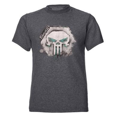 Official T Shirt Comics THE PUNISHER Dark Grey Skull Logo