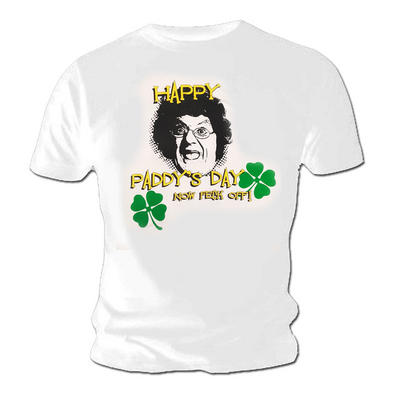 Official T Shirt Mrs Brown's Boys Happy PADDY'S Day White All Sizes