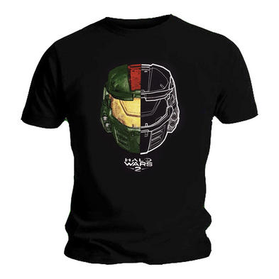 Official T Shirt Game HALO Wars 2 SPLIT Helmet Mask Logo