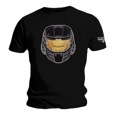 Official T Shirt Game HALO Wars 2 GOLD Helmet Mask Logo