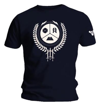 Official Gaming T Shirt DESTINY 2 Forsaken Logo 'Guardian CREST' Navy