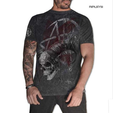 ALCHEMY Gothic Unisex T Shirt Grunge Pentagram 'Samhain Skull' All Sizes