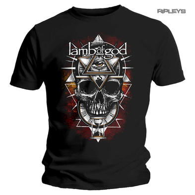 Official T Shirt Lamb of God  Heavy Metal 'All Seeing RED' Skull All Sizes